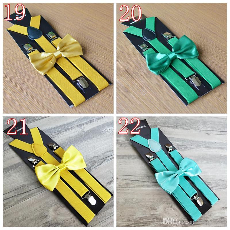 22 cores adulto Suspenders Homens Wedding Tie Tie Suspender Set Liga 3 Clips Elastic Suspender Calças Cintos Cinta