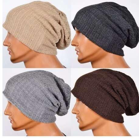 293104f9009 Men S Knit Baggy Beanie Oversize Winter Hat Ski Slouchy Cap Skull Stetson  Hats Trilby From Serrano