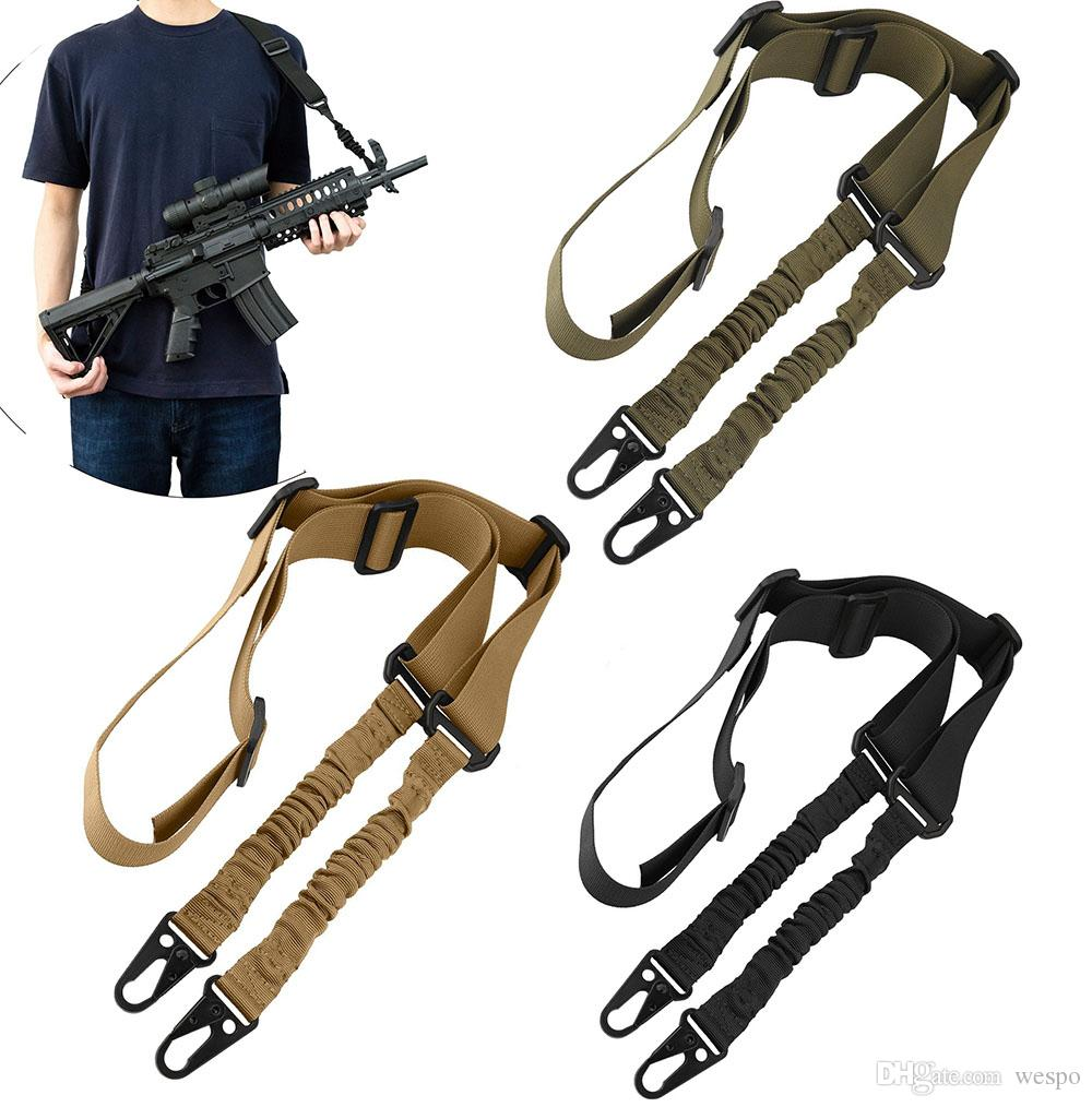 1e2d5d10b8f 2019 Upgrade Version Tactical 2 Point Rifle Gun Sling With Length Adjuster  Multi Use Quick Detach Stealth 1.5inch Bungee Rifle Gun Sling From Wespo