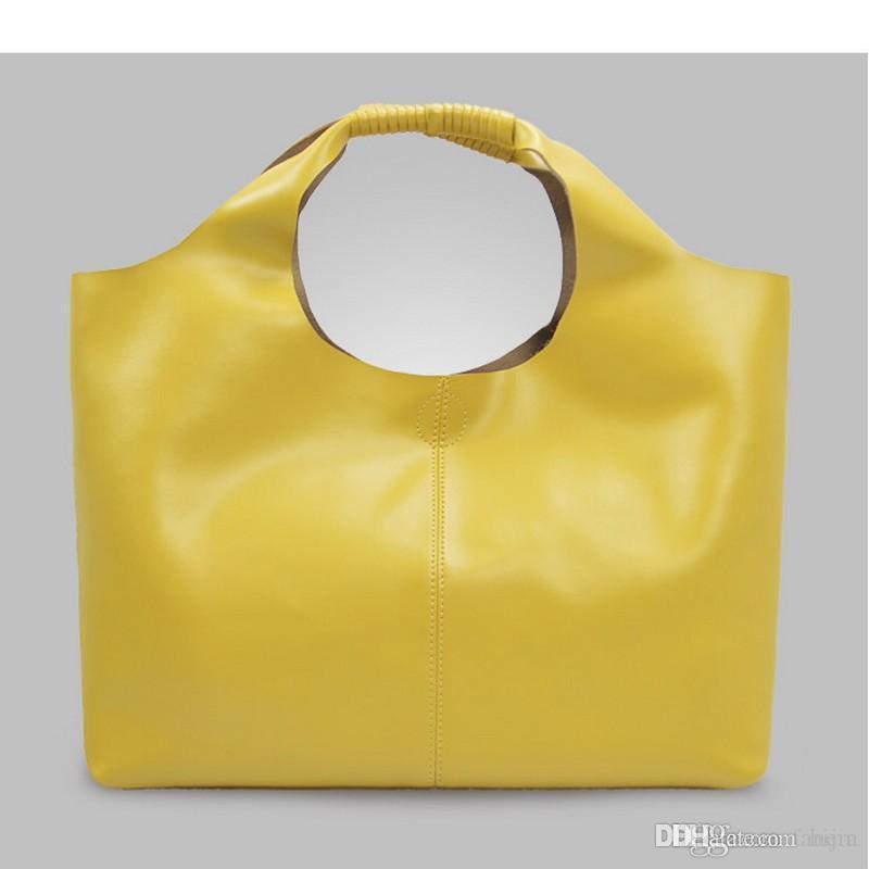 d05db8535d Acquista Borsa Hobo In Pelle Spaccata Di Grandi Dimensioni Morbida Benna Da  Donna Vera E Propria Borsa Tote Bag Con Tracolla Grande Borsa In Materiale  ...