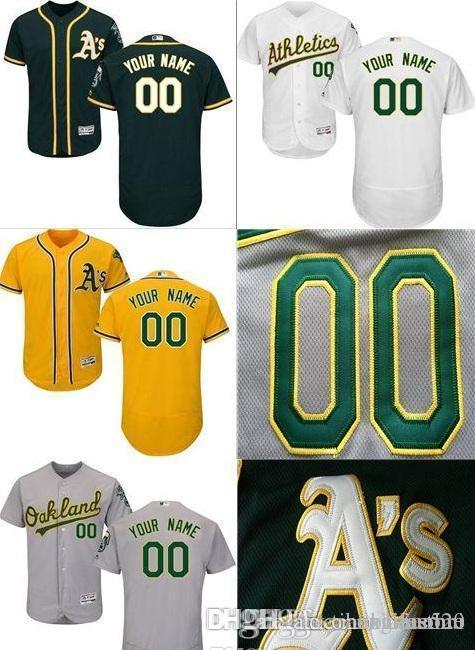 7d912840d14 CUSTOM Od Athletics Mens Women Youth Customized Majestic Stitched Baseball  Jerseys Personal Name Person Number SIZE S-XXXL Baseball Jersey Online with  ...