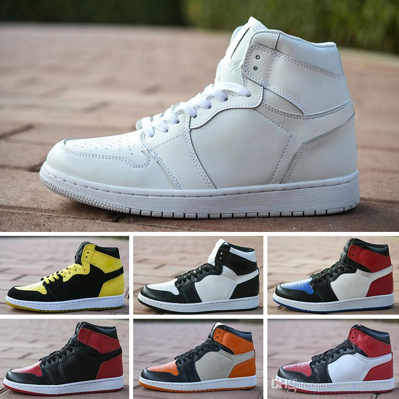 low priced b15f4 7f43d Acheter 2018 Nike Air Jordan 1 Retro Designer Shoes Gros 1 UNC Powderblue  Blanc 1S Hommes Femmes Chaussures De Basket Ball Authentique Qualité Homme  Femme ...