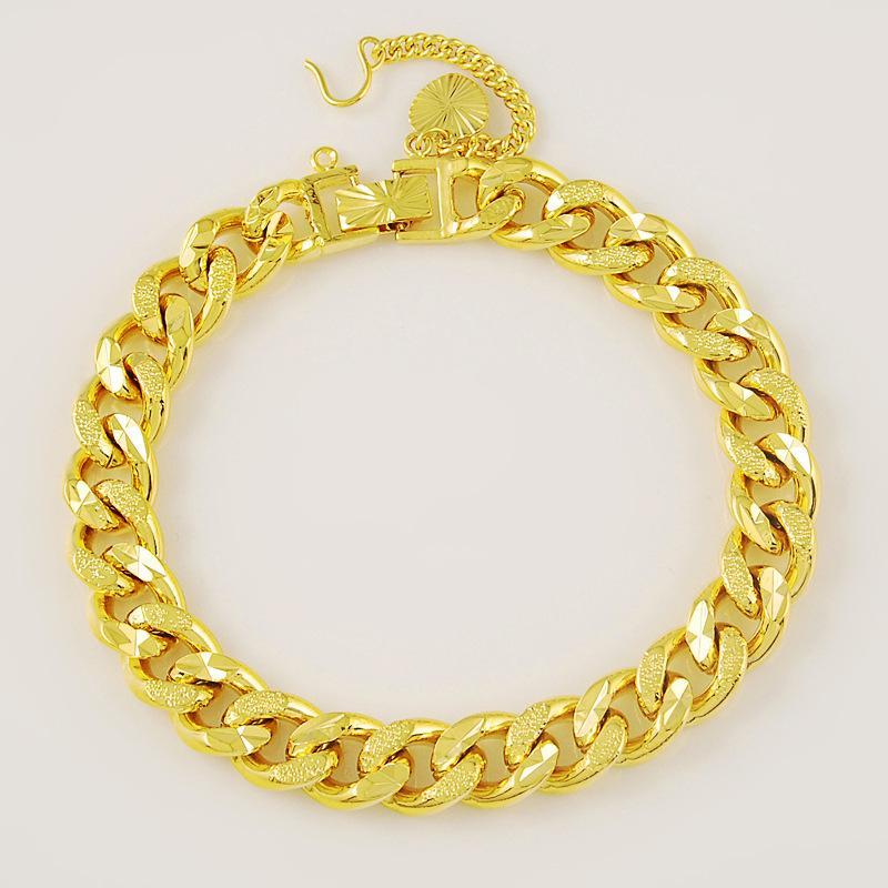 Última 9mm joyas de moda oro 24K pulsera de cadenas de vacío Artículos Revestimiento del pulsera caliente de la manera de los hombres Fine Jewellry CHJH010