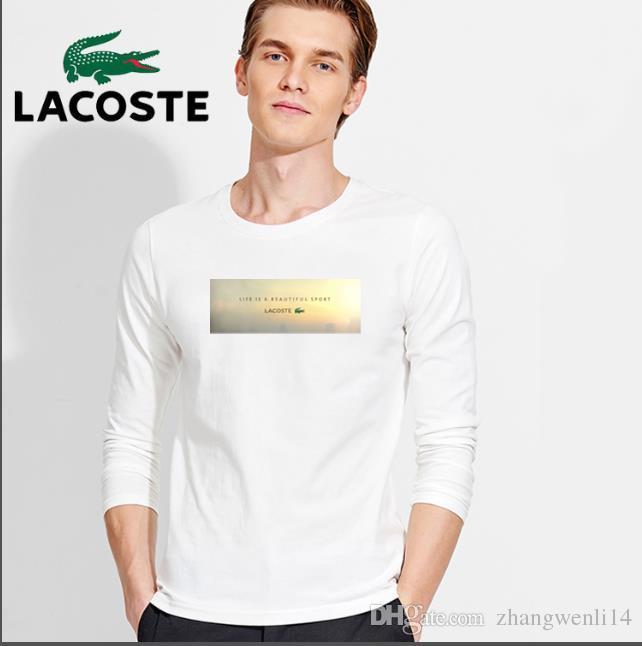 713b0d22ab3 2019 2018 Elastic Mens T Shirt V Neck Long Sleeve Men T Shirt For ...