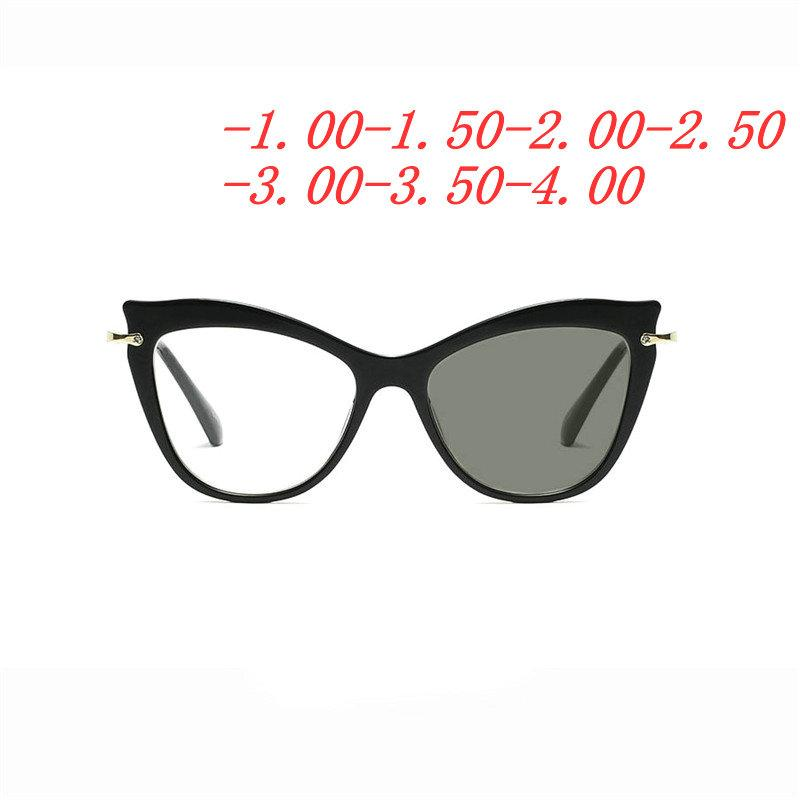 dfc41163aa5 Anti-UV Finished Optical Eye Glasses Frames With Myopia Lens For Women Men  Sun photochromism Eyeglasses Degree oculo FML