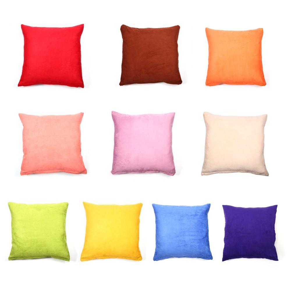 Haute qualité taie d'oreiller en daim solide housse de coussin décoratif taie d'oreiller cadeau corps taie d'oreiller romantique lit maison 45 * 45cm