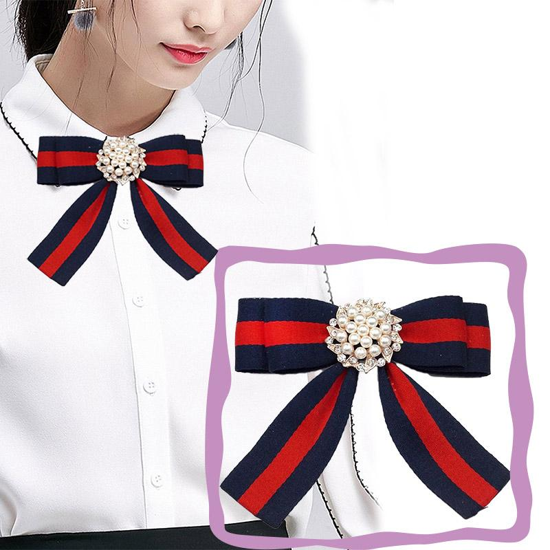 fed5f18900d 2019 Fabric Bow Brooches For Women Necktie Style Brooch Pin Wedding Dress  Shirt Brooch Pin Handmade Accessories Good Gift From Value111