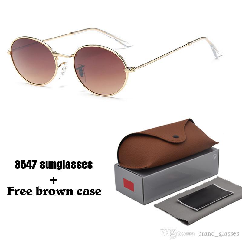 e4fc5b45505 Retro Oval Sunglasses Men Women 2018 Luxury Brand Alloy Frame Uv400 ...