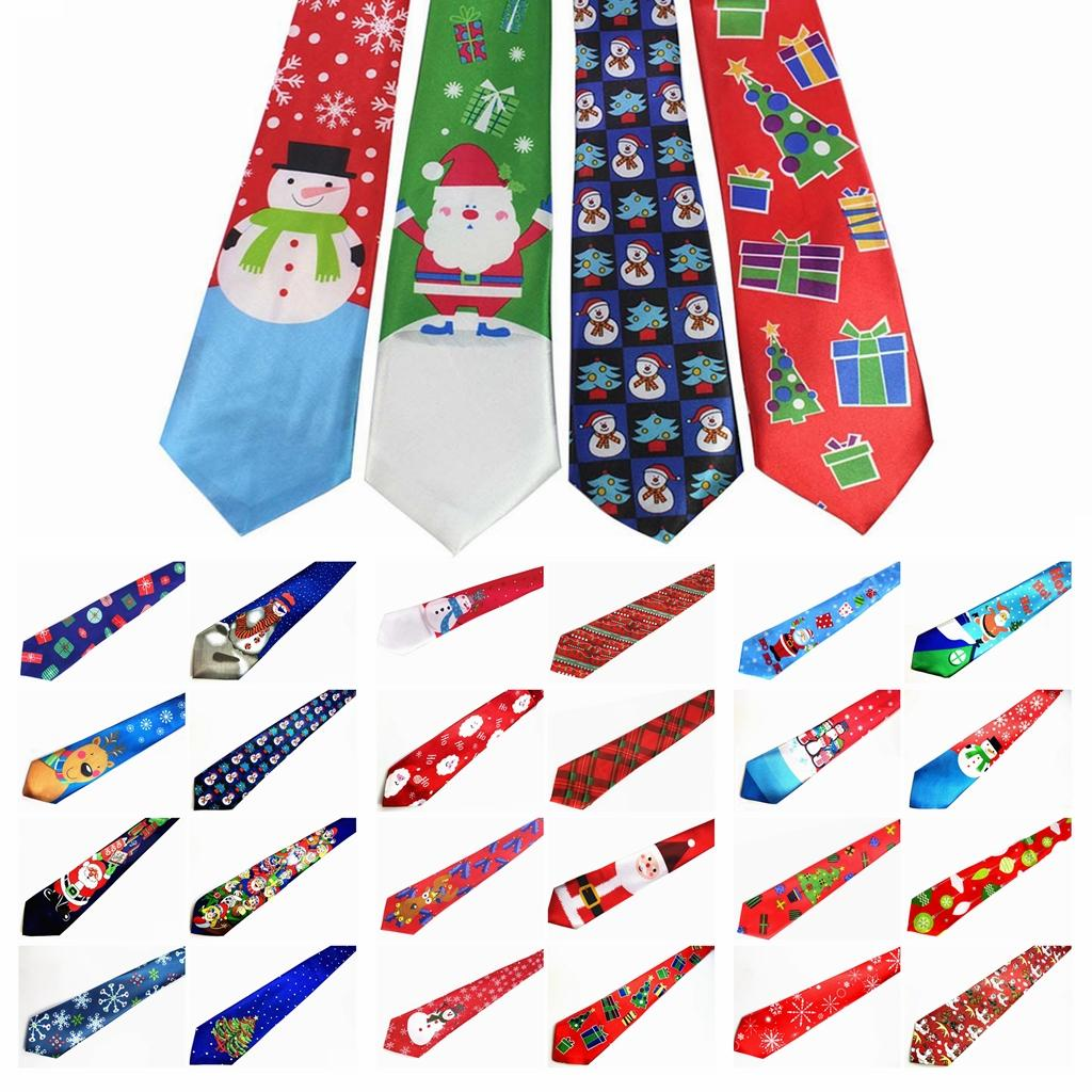 29 Styles Christmas Party Costumes Ties Santa Claus Snowman Novelty ...