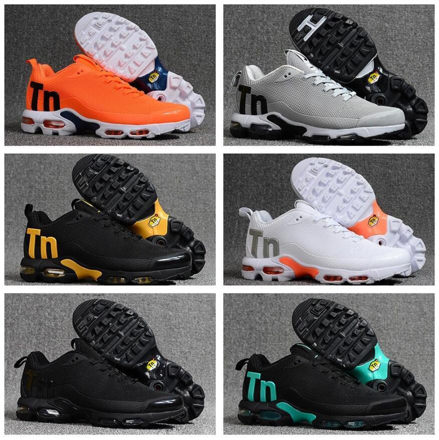 design intemporel 83a8b 65797 Mercurial Plus Tn Ultra SE Noir Blanc Orange Chaussures De Course Marque De  Luxe Designer Femmes Baskets Hommes Air Sports Chaussures