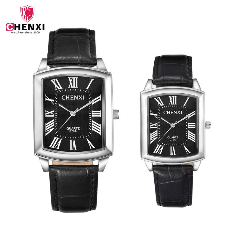 0d1b8ce1b6a2 Compre Marca De Lujo Pareja Relojes Amante Casual Reloj Hombres Mujeres  Deportes Reloj De Pulsera De Cuarzo Retro Cuadrado Dial Correa De Cuero  Reloj De ...