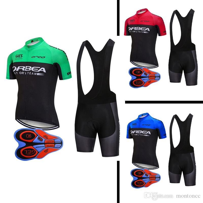 ORBEA 2018 NEW Men Cycling Short Sleeve Jersey Bib Shorts 9D Gel Pad Set  MTB Bicycle Clothes Bike Sport Racing Ropa Ciclismo J10604 Custom Cycling  Clothing ... f875e1db9