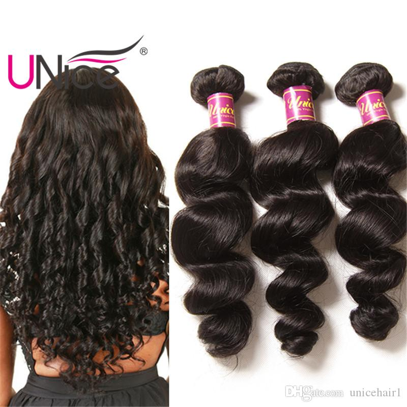 Unice Hair Wholesale 8a Indian Remy Loose Wave 100 Human Hair