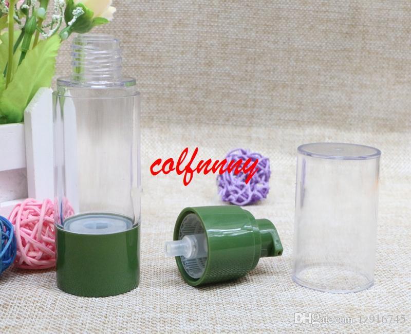 100 шт. / Лот 30 мл 50 мл пустая зеленая бутылка вакуумная колба бутылка высокого давления, без воздушного насоса насос флакон для духов