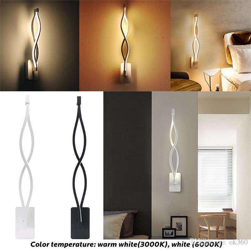 16 W CONDUZIU a Lâmpada de Parede Quarto Moderno Ao Lado de Leitura de Luz de Parede Sala de estar Interior Corredor Quarto de Hotel Iluminação Decoração