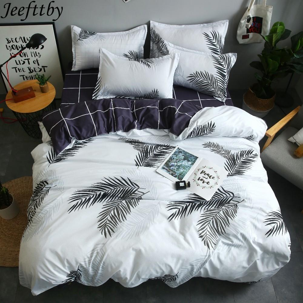 Home Christmas Bedding Sets Feather Leaf Design Twinfullqueenking
