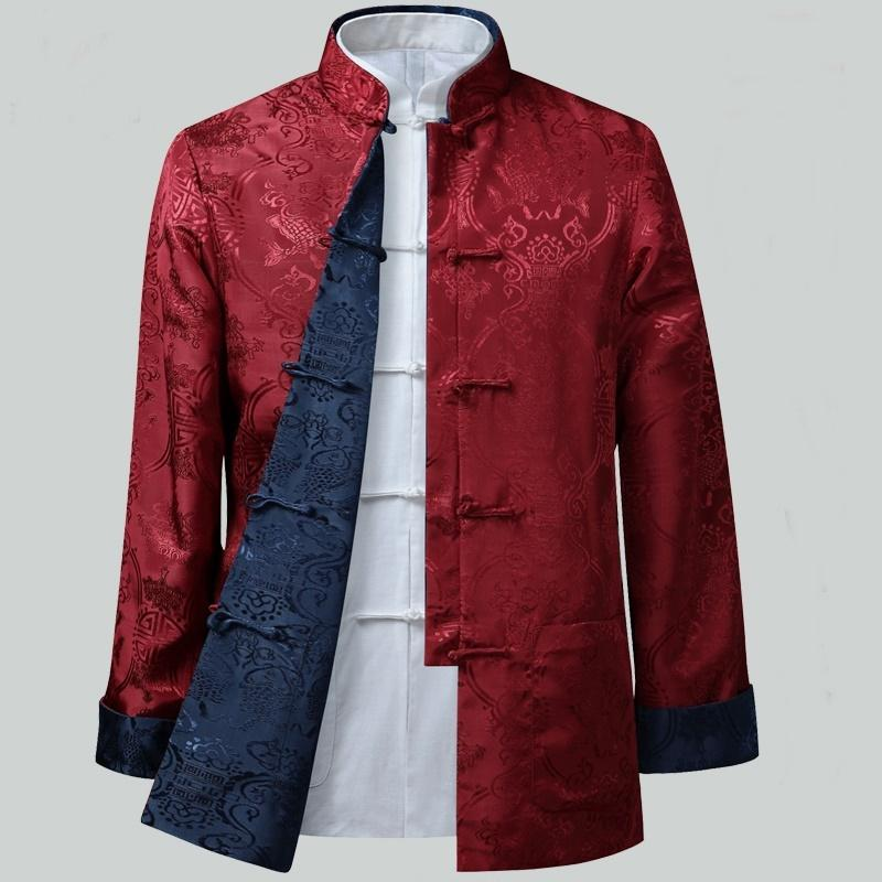 c7bb26ca4 2019 Mens Chinese Jackets Shanghai Tang Traditional Chinese Clothing For Men  Kung Fu Uniform Traditional Clothing Q126 From Cravat, $80.45   DHgate.Com