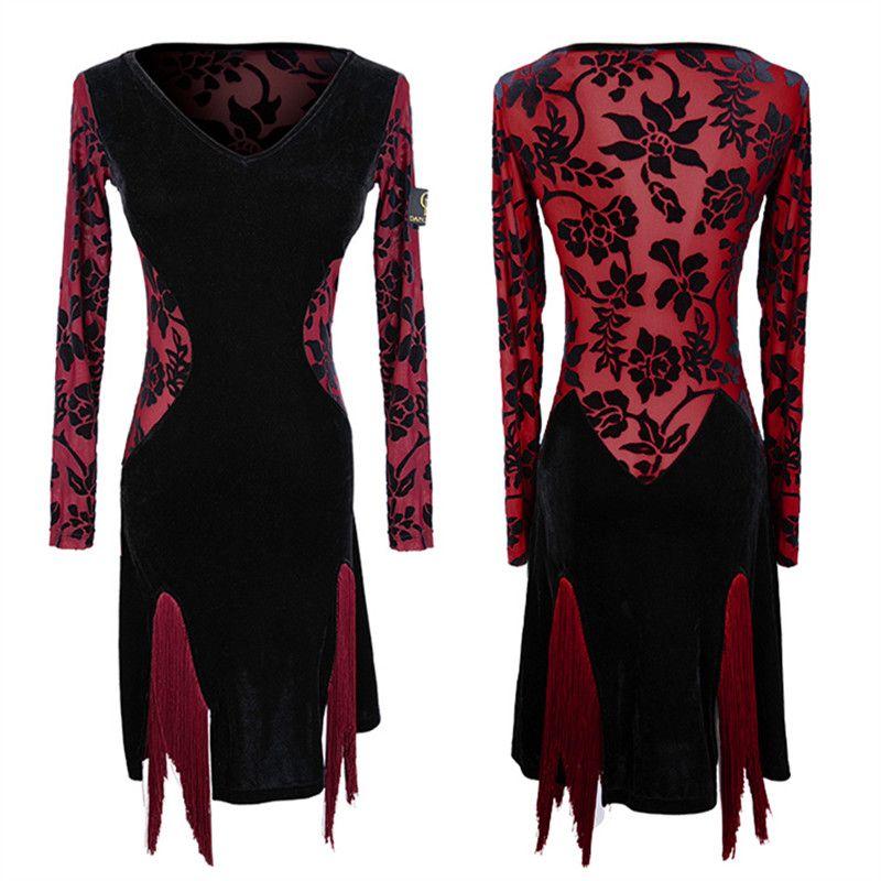 d62d25a2e9f7 2019 Transparent Latin Dance Dress For Practice Women Latin Salsa Dress  Modern Dance Costumes Wear Cha Cha From Aprili, $91.94 | DHgate.Com