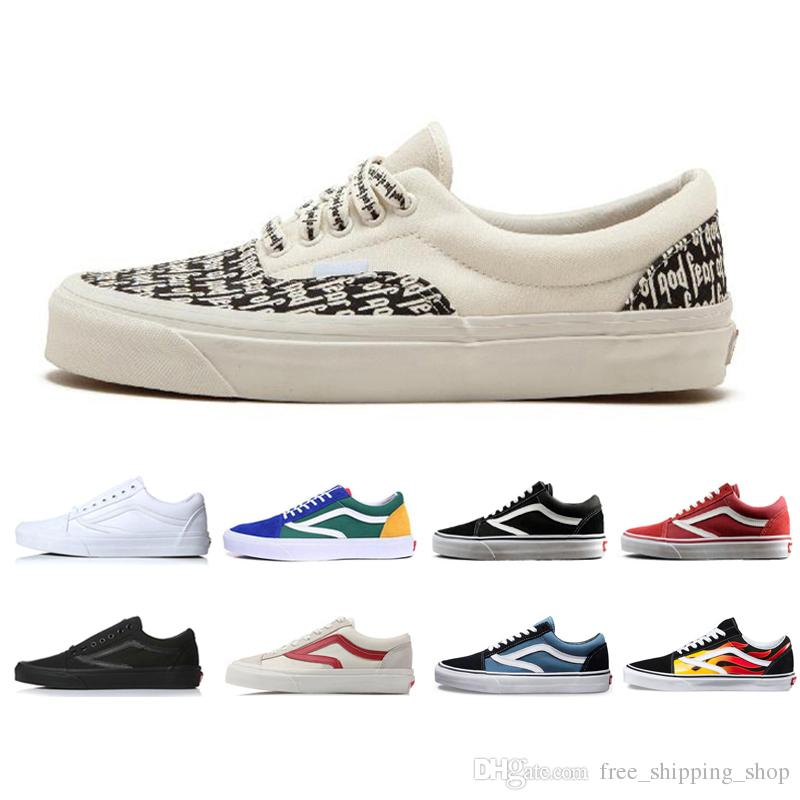 687d21d6af Acquista Vans Fear Of God X Scarpe Casual Da Donna Uomo Era 95 Revenge X  Storm Old Skool Canvas Scarpe Da Ginnastica Visvim Skateboarding Slip On  FOG ...