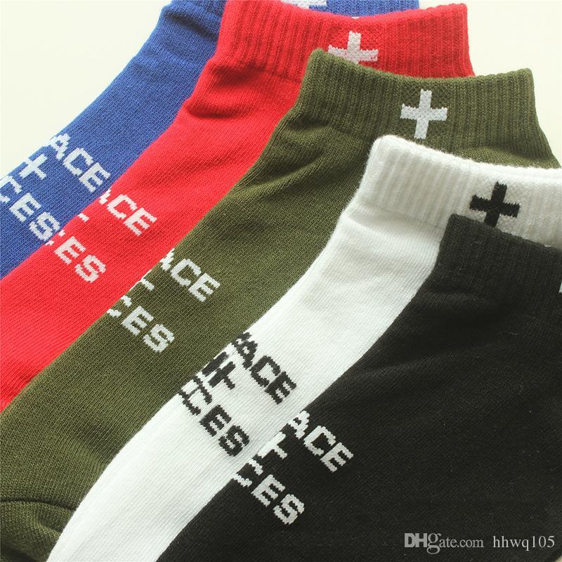 Places + Faces Cotton Socks New Brand P+F Casual Short Socks Hip Hop Street Socks Basketball Football Stockings YH0116