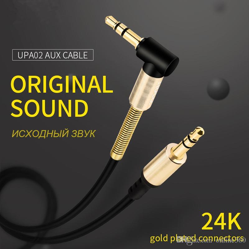 3.5 мм вспомогательный аудио кабель шнур плоский 90 градусов правый кабель AUX со стальным пружинным рельефом для наушников iPod iPhone Главная стереосистемы автомобиля