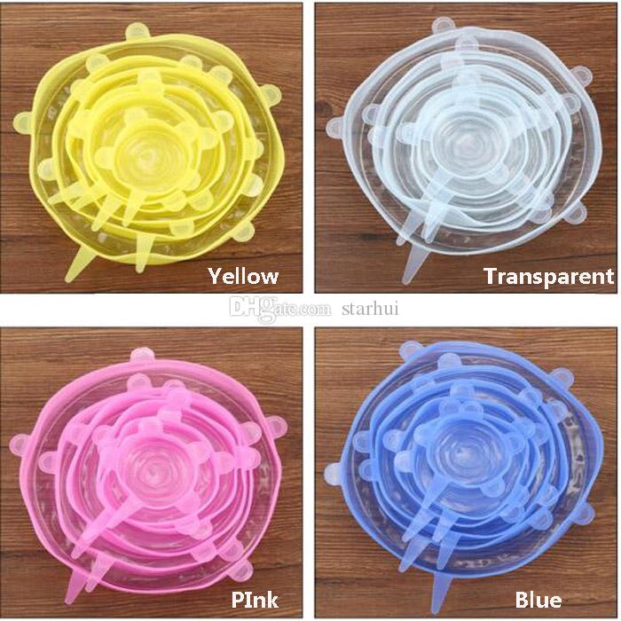 Silicone Stretch Lids Cover Universal Picnic Food Fresh Preserve Cover For Bowl Pots Pans Mug Kitchen Tools Accessories WX9-644
