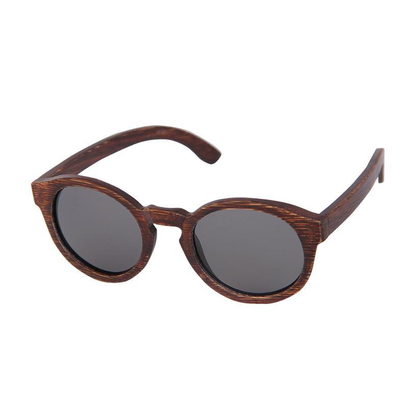 Tnkl Vintage Bambu Boyama çerçeve Polarize Güneş Gözlüğü Unisex Sürüş Güneş Gözlükleri Kadınlar Için Plaj Anti Uv Gözlük