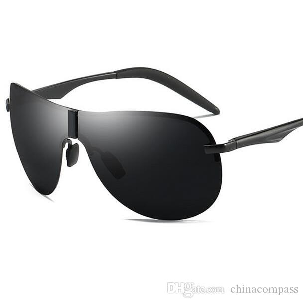 698d7f6130 New Fashion UV400 Pilot Sport Polarized Semi-Rimless Sunglasses Flash  Eyewear Driving Fishing Night Vision Goggles for Men A530 Sport Polarized  Sunglasses ...