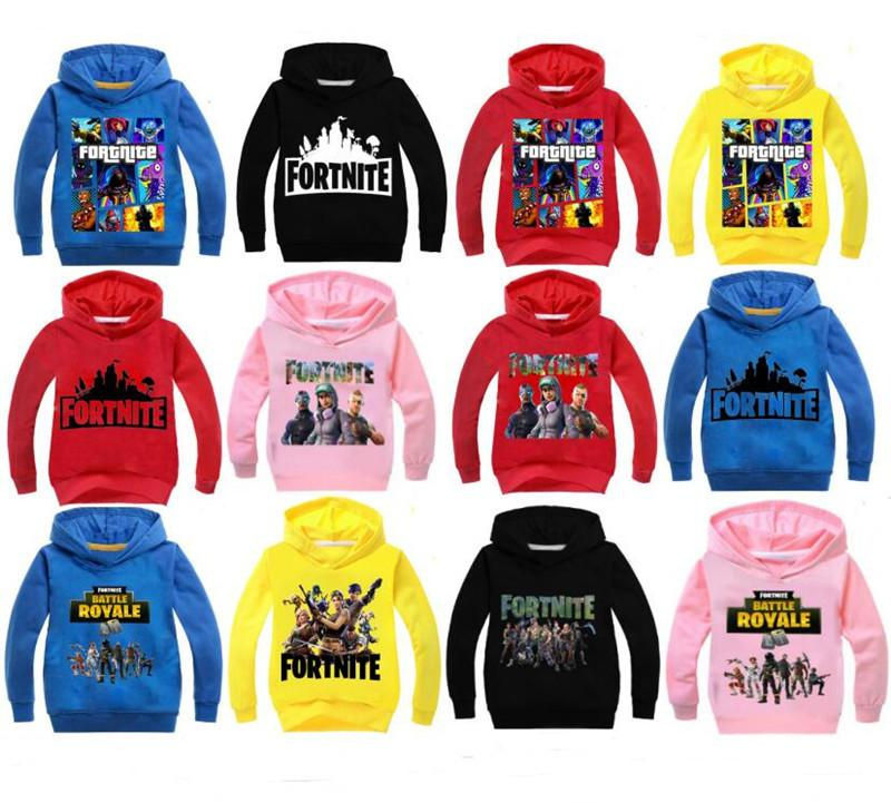 game fortnite kids hoodies sweatshirts long sleeve hoody spring autumn boys girls pullover jacket sweater top clothes 100 160cm online with 9 5 piece on - fortnite wine