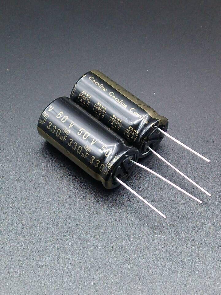 2018 hot sale 30PCS ELNA ROA Cerafine 330uF/50V origl genuine audio  electrolytic capacitors free shipping