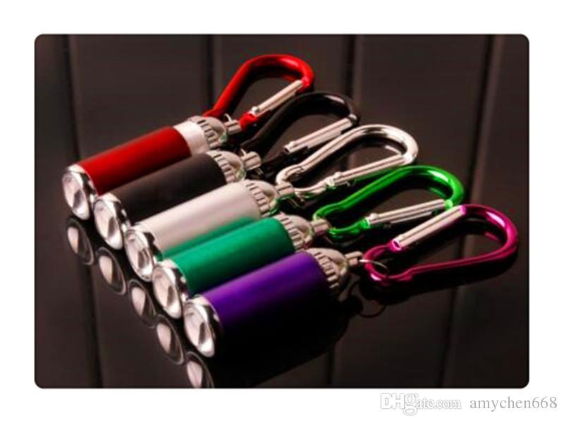 Llavero eléctrico de la antorcha Linterna Led Llaveros Linternas de bolsillo Pocket 1W Torch Zoom telescópico Torchs Colorido Útil 1 25bh