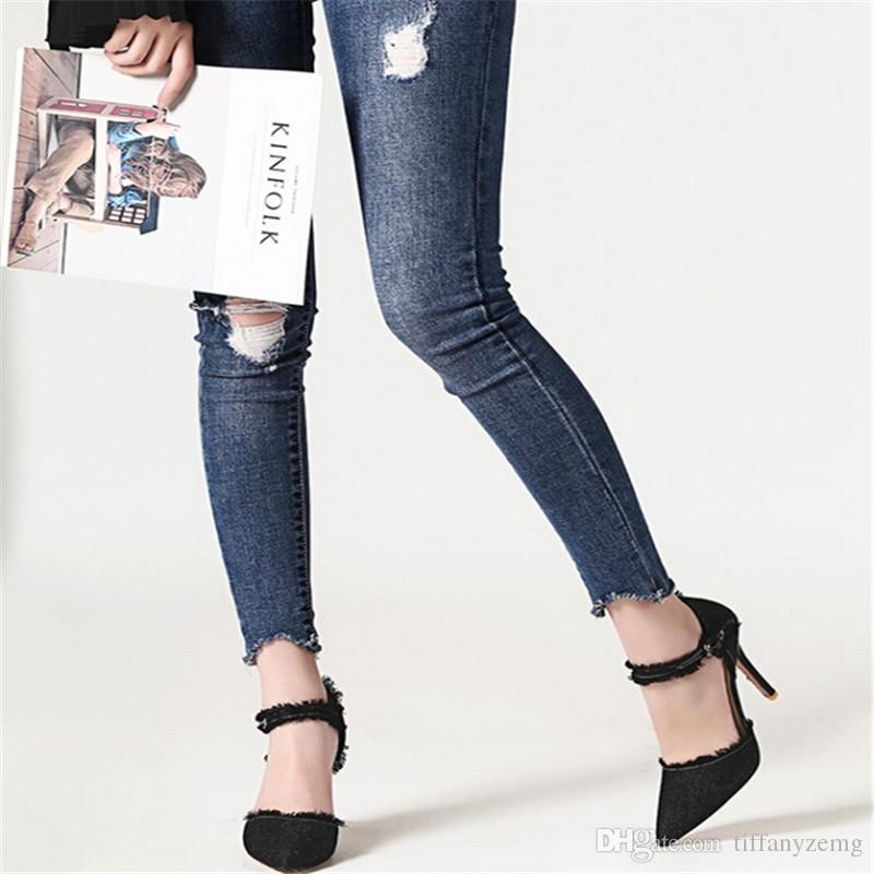 Envío gratis nuevo verano chic mujeres rojo hecho a mano bowtie tacones altos zapatos de vaquero banquete de boda sexy bombas nupciales sandalia libre
