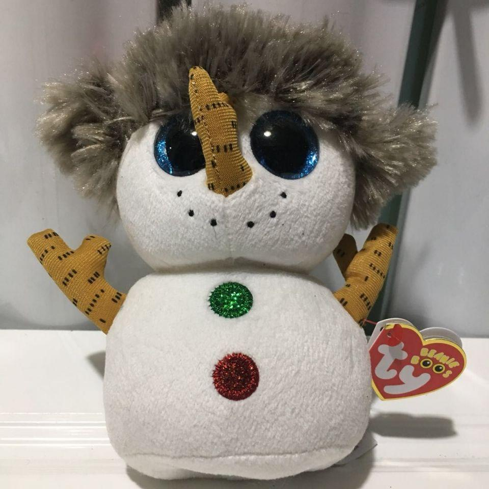 4543891bbf5 2019 Buttons Snowman With Heart Tag And Tush Label TY BEANIE BOOS  COLLECTION 15CM 6 Plush Toys Stuffed Animals Toy Soft Toys From Babymom