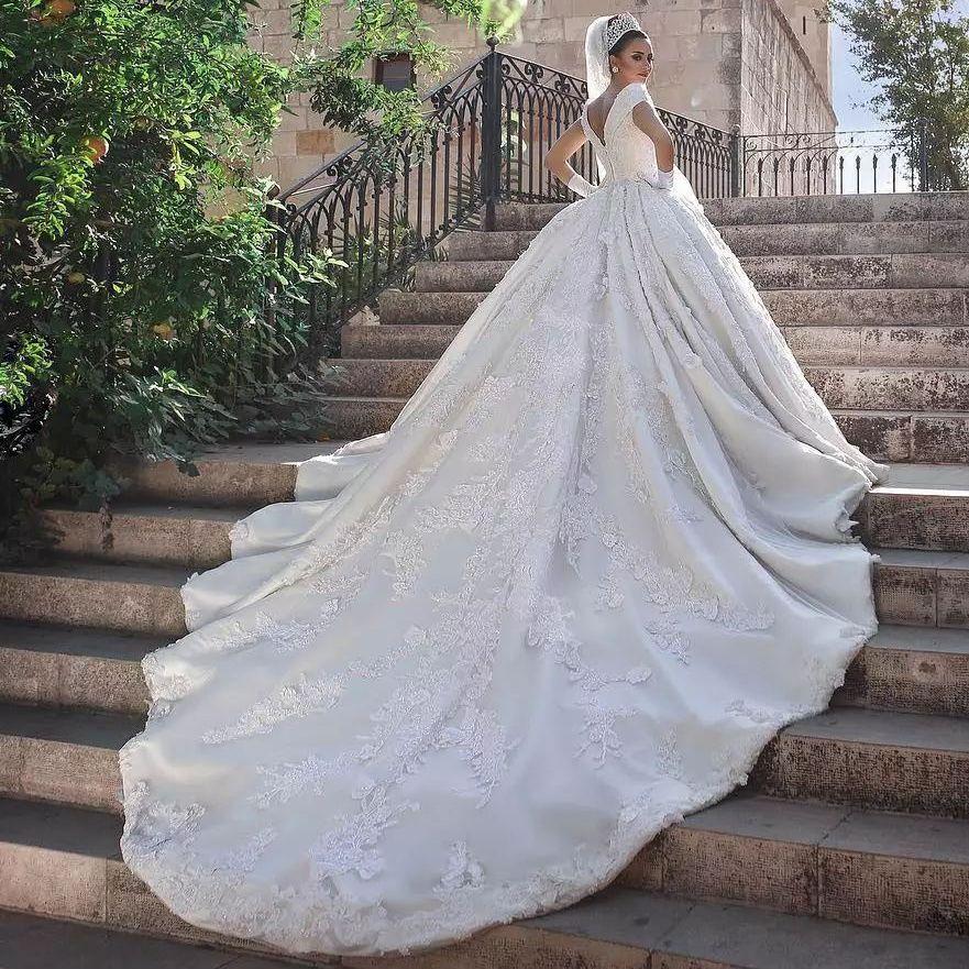 Dubai Bridal Portrait Princess Wedding Dress Luxury Beaded