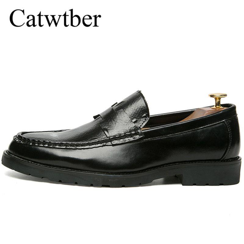 7efa98584392 Catwtber Men Formal Shoes Autumn Spring Brown Black Men Dress Shoes ...