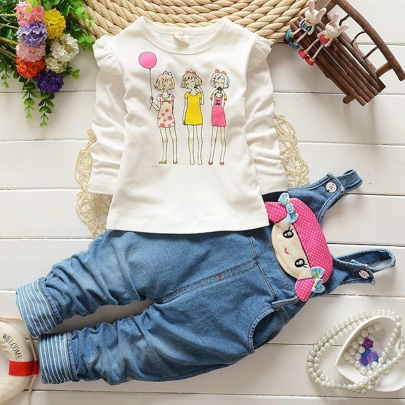 4516751c1 BibiCola Autumn spring Fashion Baby Girl Clothes Cotton Long-sleeved ...