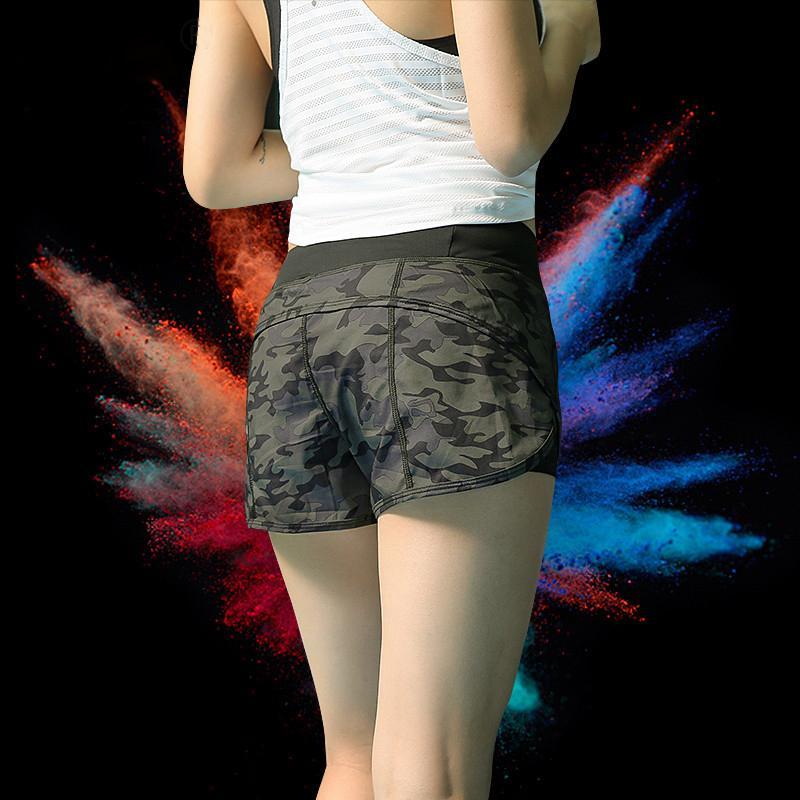 0694568db0f Chumoo Women Sport Camo Shorts Athletic Shorts Cool Ladies Sport Running  Short Fitness Clothes Jogging
