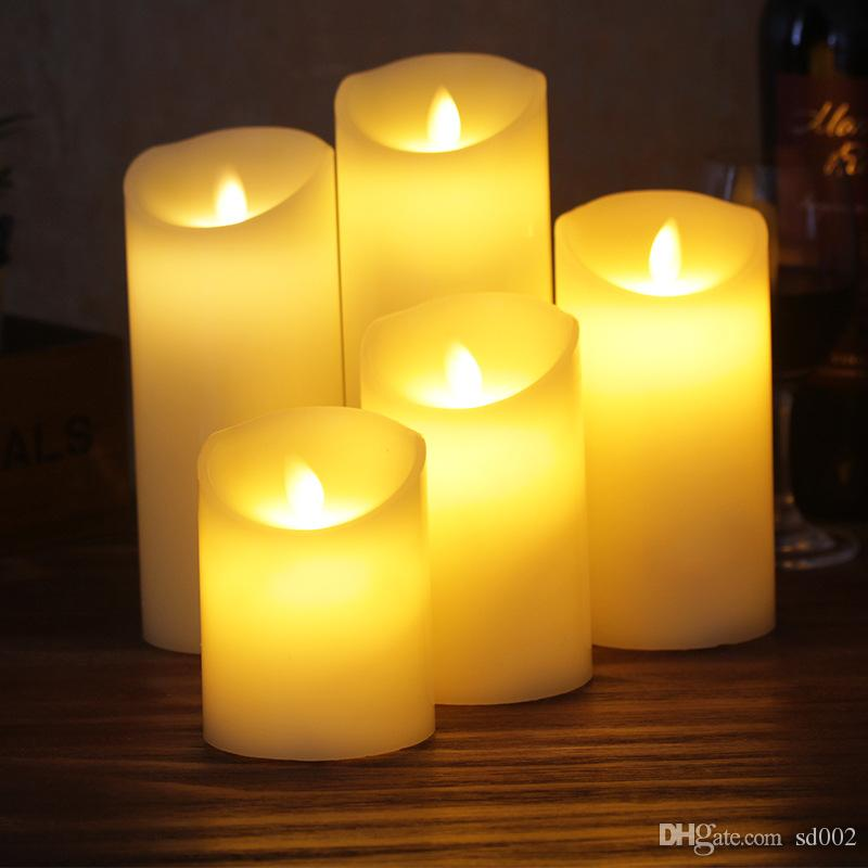 Candle Simulation Originality Birthday Wedding Ceremony Home Decorate Remote Control LED Artificial Fake Wax Bougie Lamp Light 17ld5 bb