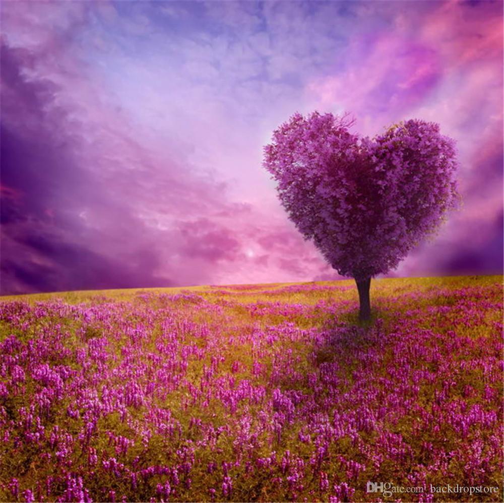 Compre Tierra De Fantasía Cielo Púrpura Amor Árbol En Forma De ...