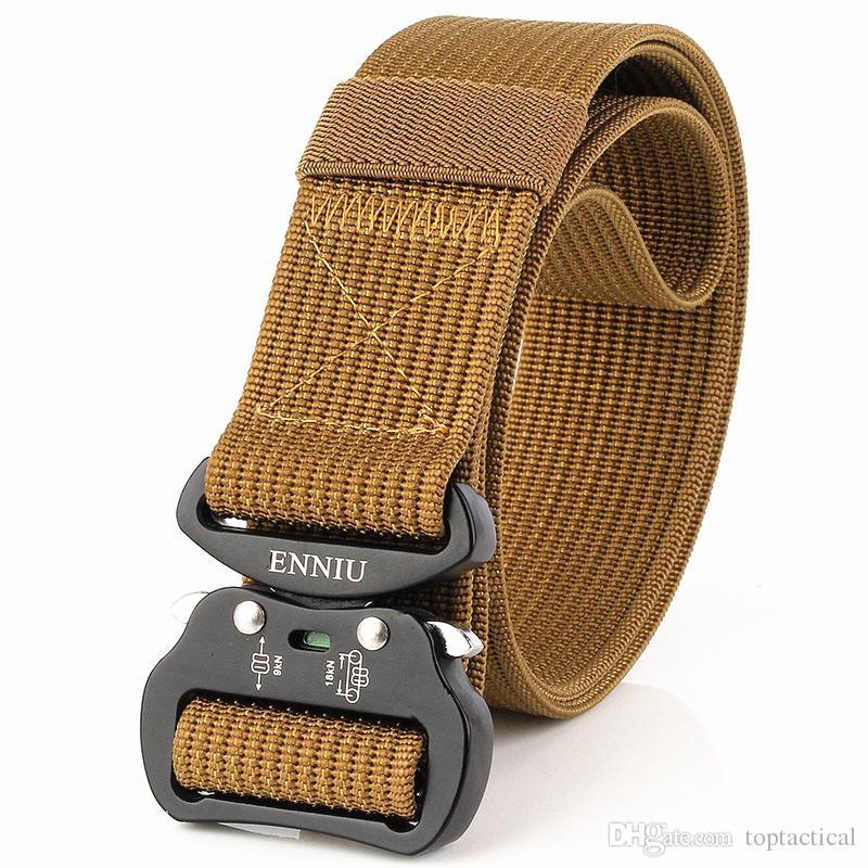 Top Quality Aeronautical Aluminum Buckle 3.8 cm Tactical Duty Nylon Belt Multi-functional Army Training Outdoor Cobra Waist Belt