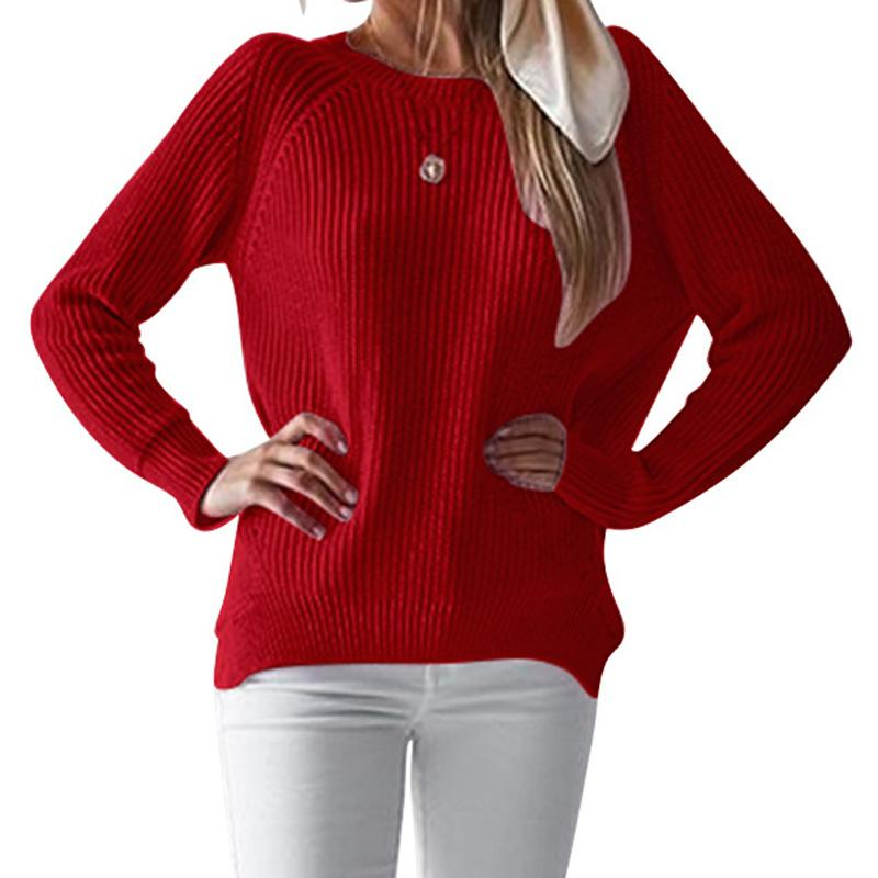 e68b9b3ef0d Long Sleeve Loose Women Knitwear Split Jumpers Female Sweet Autumn Sweaters  Casual Girls Thick Winter Knitted Plus Size GV481