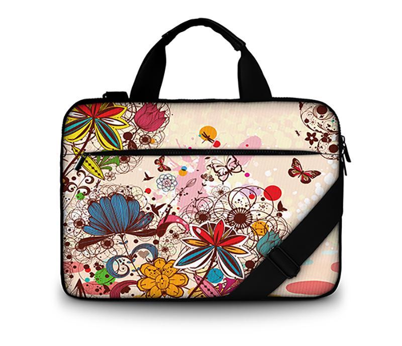 5994932bac13 Fashion canvas computer bag 15 laptop shoulder case bag 15.6 17 inch for  Macbook air / lenovo with handle shoulder strap