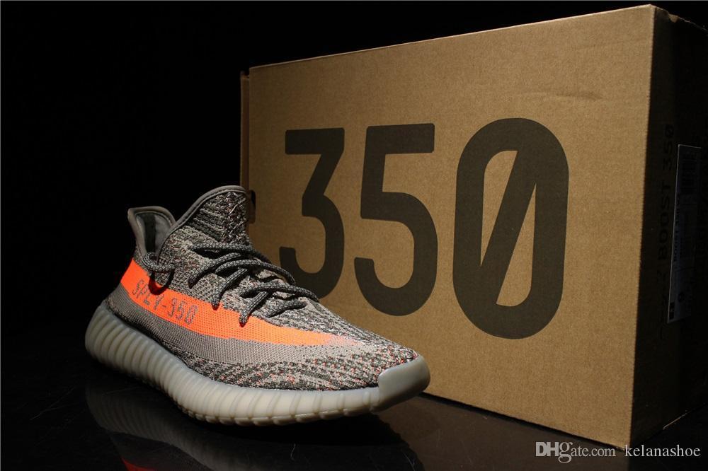 2018 New Top Quatily Boost 350 V2 Kanye West SPLY Semi Frozen Yellow Women Men Mens Luxury Designer Comfortable Running Shoes Sneakers