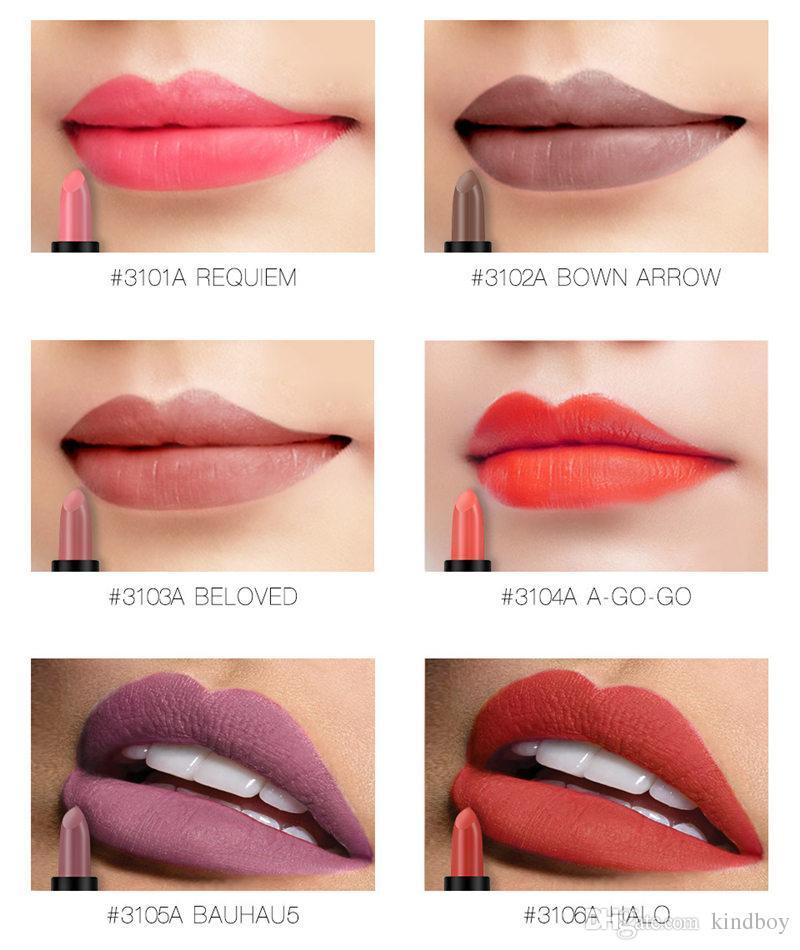 O.TWO.O Matte Lipstick Matte Long Lasting Kissproof Waterproof Matte Lip gloss Make Up Lip Golden Series DHL