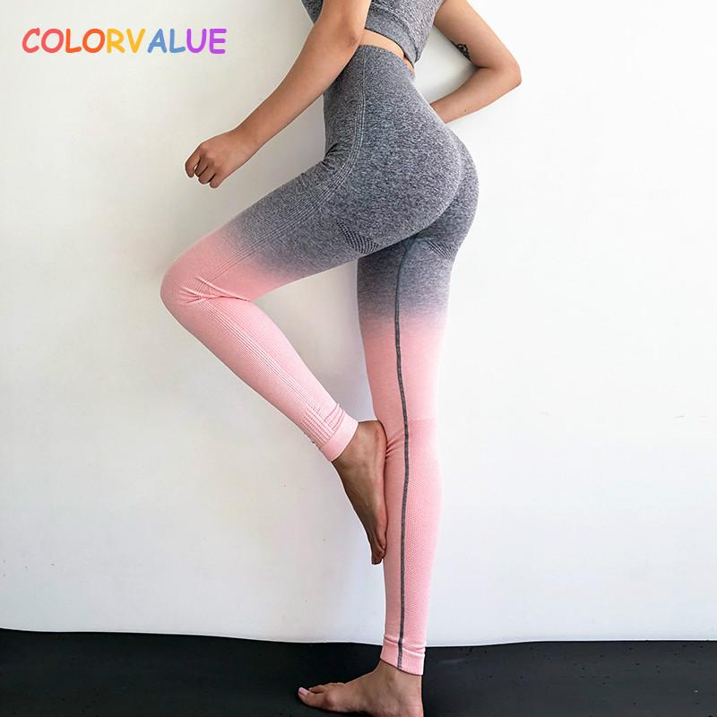 400fe6f335e75 value Ombre Seamless Gym Compression Tights Women Tummy Control Fitness  Workout Leggings Squatproof Hip Up Jogger Pants From Rainlnday, $28.11 |  DHgate.Com