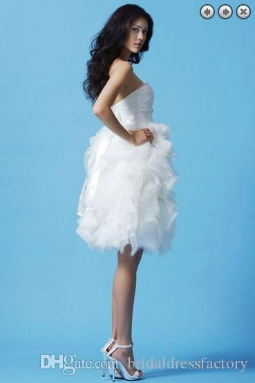 бесплатная доставка alibaba Китай vestidos formales новая мода длиной до колен партии белые невесты горничной свадебные платья съемный пояс