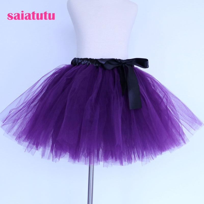 2018 NEW dark purple tulle toddler children baby costume ball gown party dance wedding short pettiskirt tutu girl kids skirt