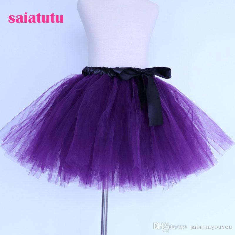Compre 2018 Nueva Púrpura Oscuro Tul Niños Del Bebé Traje De Baile ...