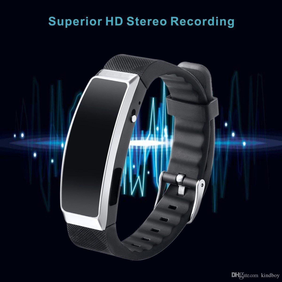 Enregistreur vocal numérique 8 Go Portable Polsband 8 Go Sport Enregistreur vocal Verborgen Mini MP3 Geluid Dictafoon Audio Recorder gratuit DHL