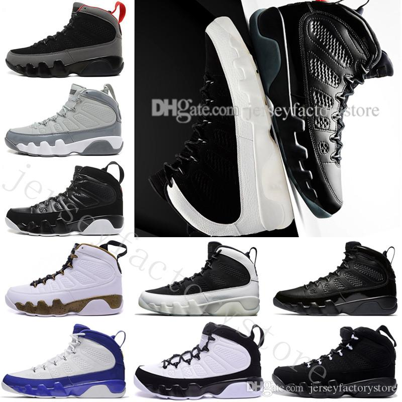 new arrival 84628 04be2 Wholesale New 9 9s mens basketball shoes LA Bred OG space Jam Tour blue PE  Anthracite The Spirit Johnny Kilroy sports trainers Sneakers US 7
